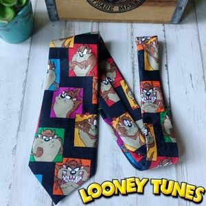 🌪️Vintage 1993 Taz Looney Tunes novelty neck tie